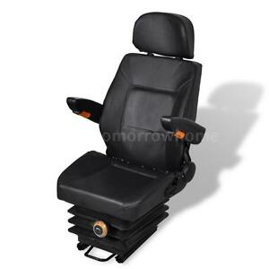 Tractor Seat With Arm Rest And Head Rest With Spring N7e9