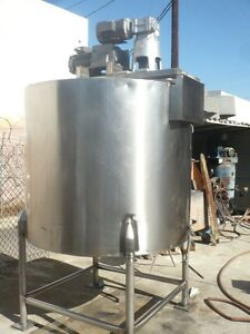 Stainless Jacketed Dual Mixer Tank 400 Gal