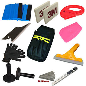 Car Wrap Vinyl Tools Kit Window Tint Installation 3m Squeegee Cutter Magnet Tool