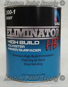 Usc High Build Polyester Primer Surfacer Gray Eliminator Gallon 300 1