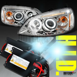 Slim Hid Kit For 2001 2003 Honda Civic Led Projector Headlights Clear Head Lamps