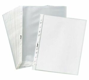 Clear Plastic Sheet Page Protectors Acid Free 8 5x11 400sleeves Document Office