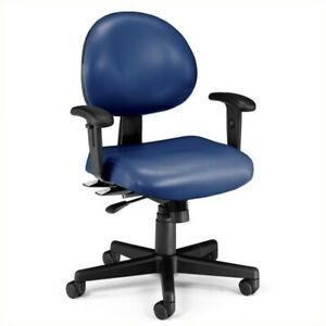 Ofm 24 Hour Task Office Chair With Arms In Navy