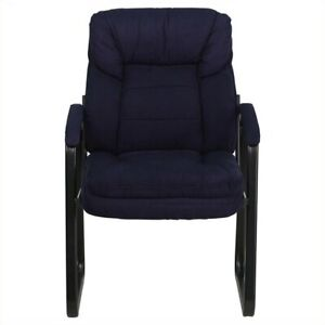 Flash Furniture Executive Side Guest Chair With Sled Base In Navy