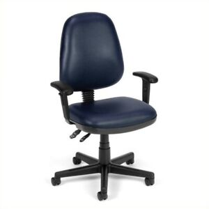 Ofm Straton Series Computer Task Office Chair With Arms In Navy