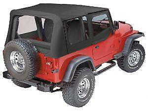 Pavement Ends Replay Black Denim Top For 88 95 Jeep Wrangler Yj Clear W Skins
