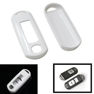Exact Fit Glossy White Remote Smart Key Fob Shell Cover For Mazda 3 6 Cx 7 Mx 5