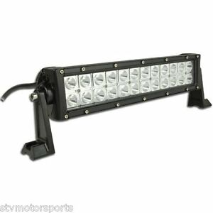 12 Inch Led Light Bar Offroad Rzr Truck Atv Polaris Honda Flood spot Combo