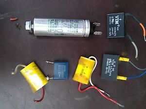 7uu36 6pcs Assorted Capacitors All Verified Very Good Condition