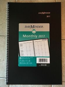 Dayminder Monthly Planner Appointment Book 2017 7 7 8 X 11 7 8 Bk Sk2 00