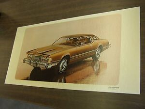 Oem Ford 1974 Thunderbird T Bird Showroom Poster Display