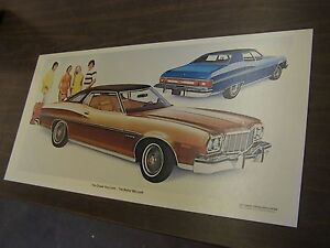 Oem Ford 1975 Gran Torino Brougham Showroom Poster Display