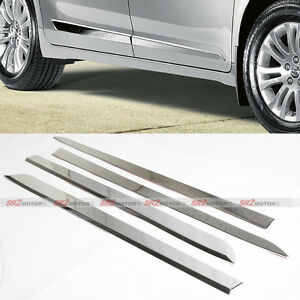 Chrome Door Side Body Lower Moldings Trim Kit Fits 2011 2016 Toyota Sienna