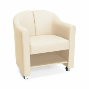 Ofm Contour Series Mobile Guest Club Chair In Linen