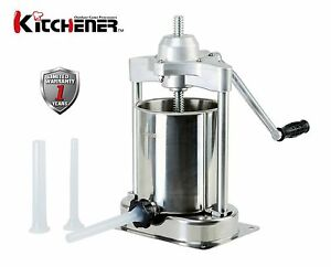 Kitchener 15 lbs Heavy Duty Commercial Stainless Steel Sausage Meat Stuffer