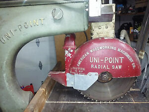 American Woodworking Uni point X36af Radial Arm Saw 15 Blade 3hp
