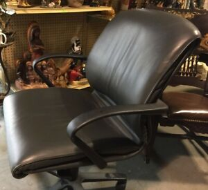 Harrington Teknion Computer Chair Gray Leather