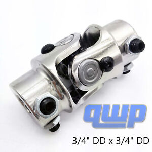 New Chrome 3 4 Dd X 3 4 Dd Universal Steering U Joint Coupler Column Rat Rod