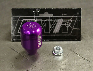 Blackworks Racing 10x1 25 Aluminum 6061 5 Speed Type R Style Shift Knob Purple
