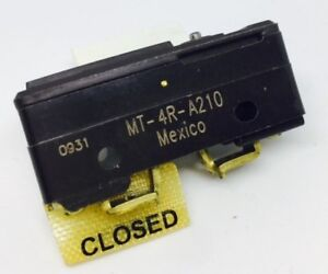Mt 4r a210 Micro Switch Honeywell Basic Snap Action Switches
