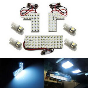 128 smd 7 Pcs Exact Fit Led Panels Bulbs Interior Lights Package For Acura Honda