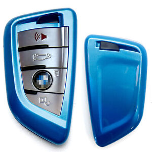 Exact Fit Glossy Blue Smart Key Fob Shell Cover For Bmw X1 X4 X5 X6 5 7 Series