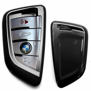 Exact Fit Glossy Black Smart Key Fob Shell Cover For Bmw X1 X4 X5 X6 5 7 Series