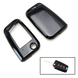 Exact Fit Glossy Black Folding Key Fob Shell For 15 Up Volkswagen Mk7 Golf Gti