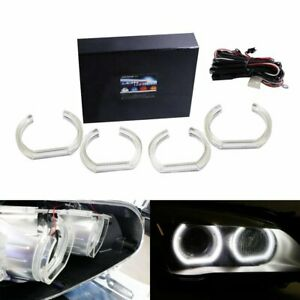 Acrylic Cover Dtm style Square Bottom Led Angel Eyes Halo Rings For Bmw 7 Series