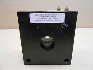 1 New Instrument Transformers Inc 21 400 21400 40 5a Ratio 50 400hz 600v