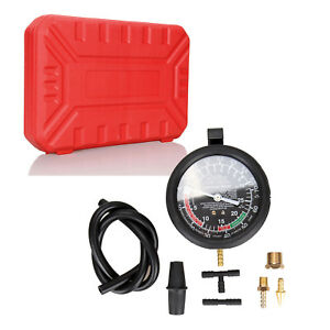Carburetor Valve Fuel Pump Engine Oil Pressure Vacuum Tester Gauge Test Kit