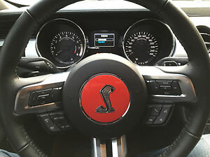 Fm 85r New 3d Mustang Steering Wheel Cover Shelby Cobra Emblem Badge Decal Ford