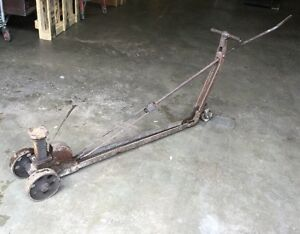 Antique Heavy Steel Buffalo Garage Floor Jack By S A Mfg Corp Buffalo Ny