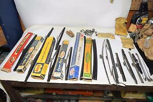 Lot Of Vintage Windshield Wipers Wiper Refills Arms Miscellaneous Hardware