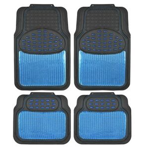 Bdk Metallic Rubber Floor Mats For Car Suv Truck Ultra Heavy Duty Blue