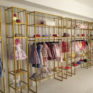 Clothing Store Fixtures Beautiful Metal And Glass Shelving Units