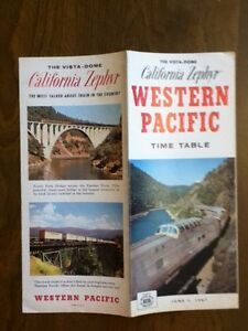 1967 California Zephyr Railroad Time Table W Pacific Vintage Schedule Timetable