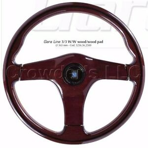 Nardi Steering Wheel Gara 3 3 W W 365mm Wood With Wood Center Pad