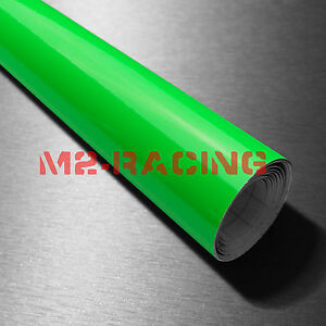 39 x360 Fluorescent Green Vinyl Self Adhesive Decal Plotter Sign Sticker Film
