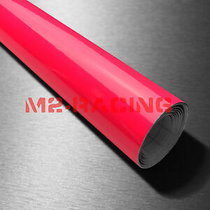 39 x480 Fluorescent Pink Vinyl Self Adhesive Decal Plotter Sign Sticker Film