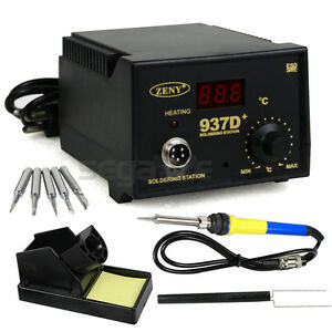 Hot 937d Soldering Station Jp Heater Iron Welding Solder Smd Tool 5 Tips Stand