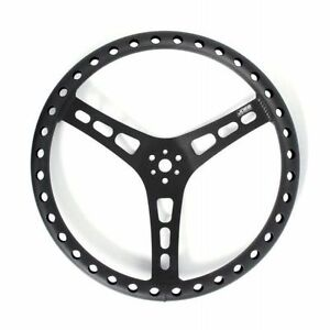 Joes Racing Products 13514 B 14 Dished Steering Wheel 3 Bolt Mount Aluminum