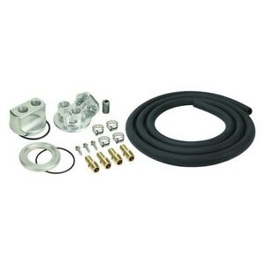 Derale 15716 Engine Oil Filter Relocation Kit 13 16 16 Thread Size
