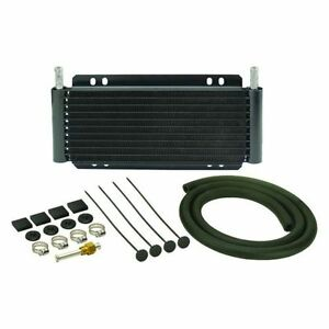 Derale 13501 9 Row Series 8000 Plate Fin Transmission Cooler Kit 15 500 Gvw
