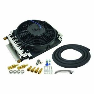 Derale 15900 16 Pass Electra Cool Remote Transmission Cooler Kit 8an Inlets
