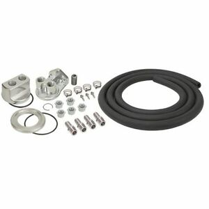 Derale 15748 Universal Engine Oil Filter Relocation Kit With 1 2 Npt Ports