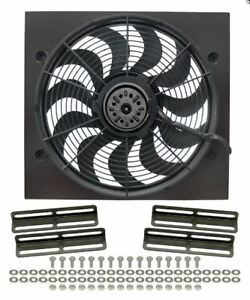Derale 16919 High Output 17 Electric Puller Fan Only Black Steel Shroud Kit
