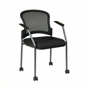 Scranton Co Rolling Visitors Guest Chair With Casters In Coal