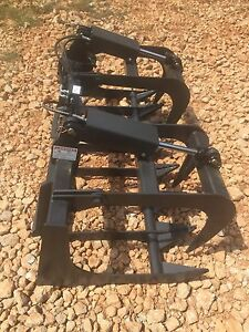 Hd 72 Skid Steer Root Grapple Bucket Twin Cylinder universal Fit Free Couplers