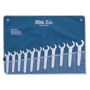 Martin Tools Sw11k 11 Piece 30 Degree Open End Service Wrench Set